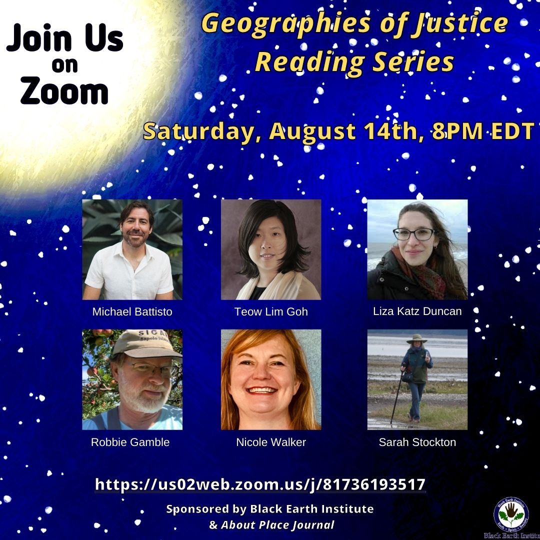 Geographies of Justice reading series poster